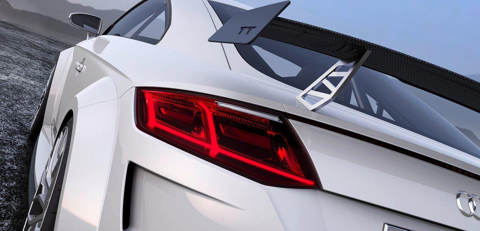 Audi TT Quattro Sport rearview Showcar Creative Wave