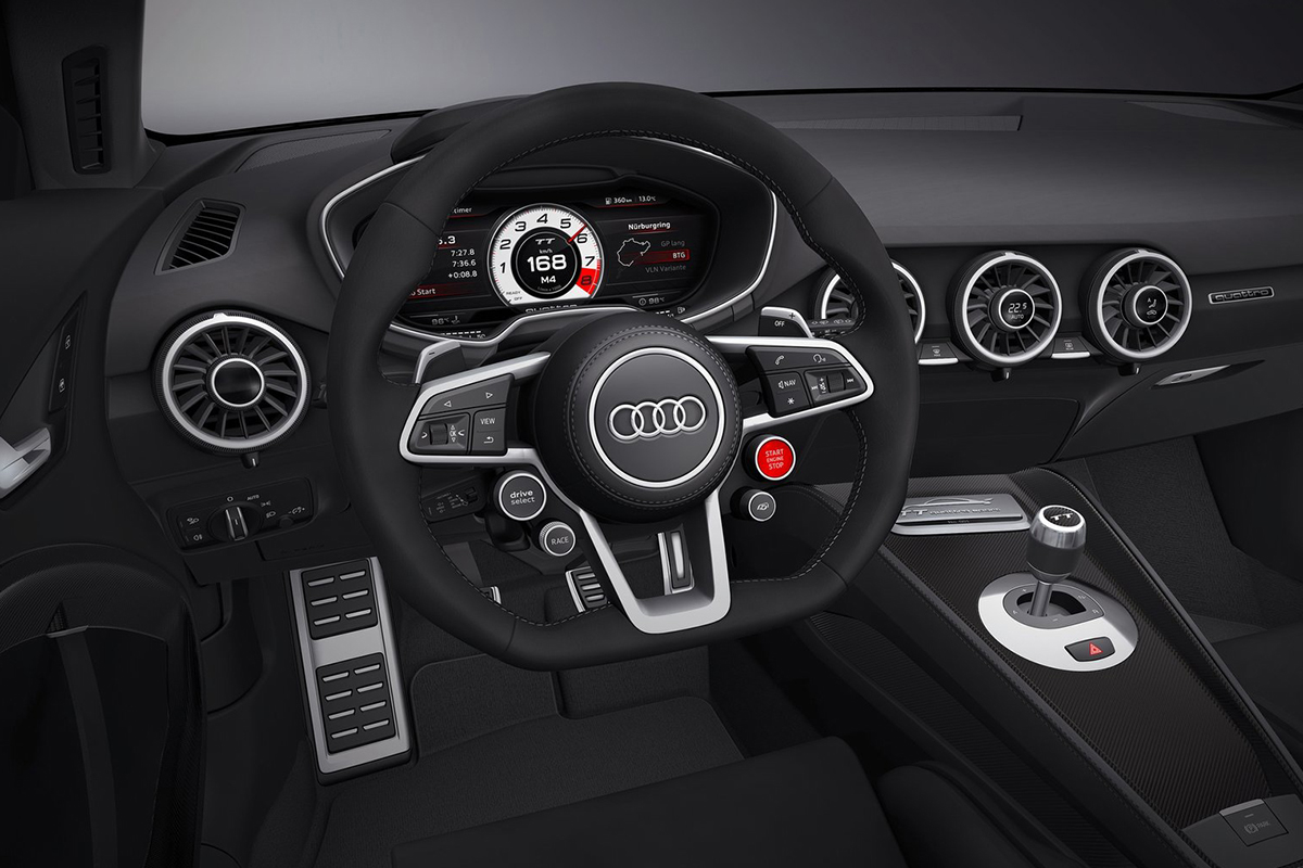 Audi TT Quattro Sport Concept steering wheel Showcar Creative Wave