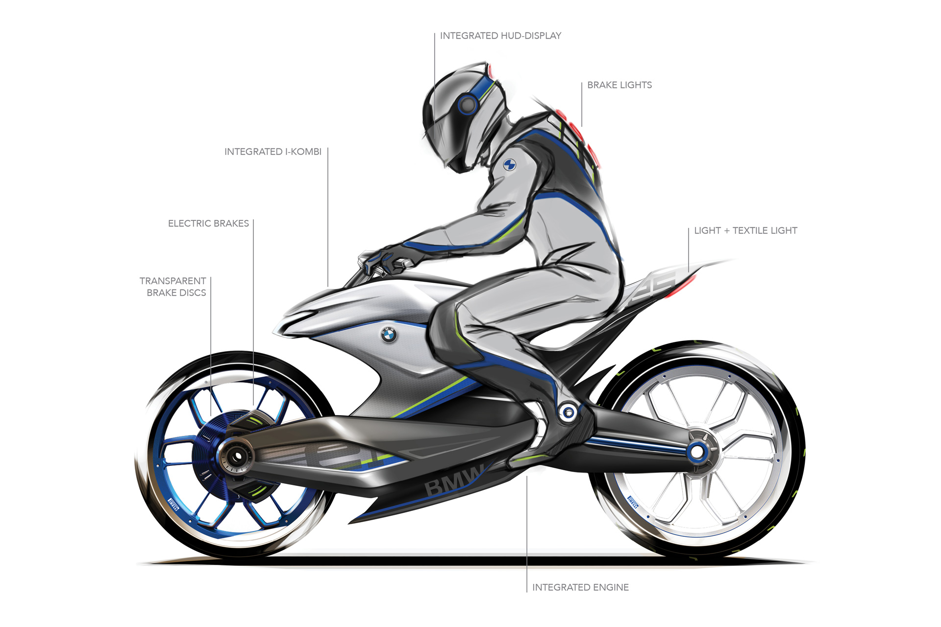 Sketch motorcycle BMW by Creative Wave