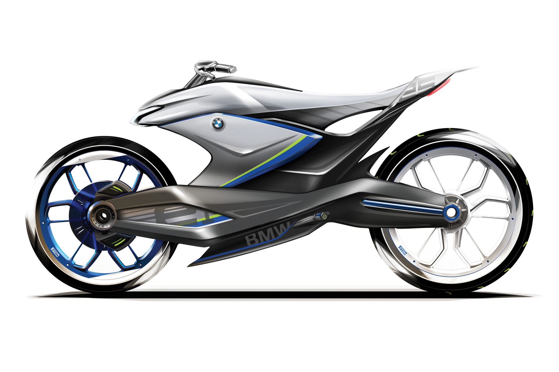 Design motorcycle BMW side Creative Wave