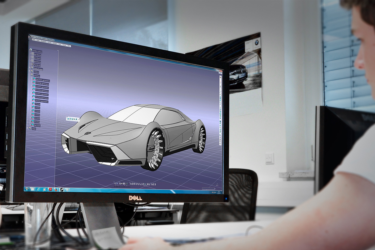 CAD engineering car Creative Wave