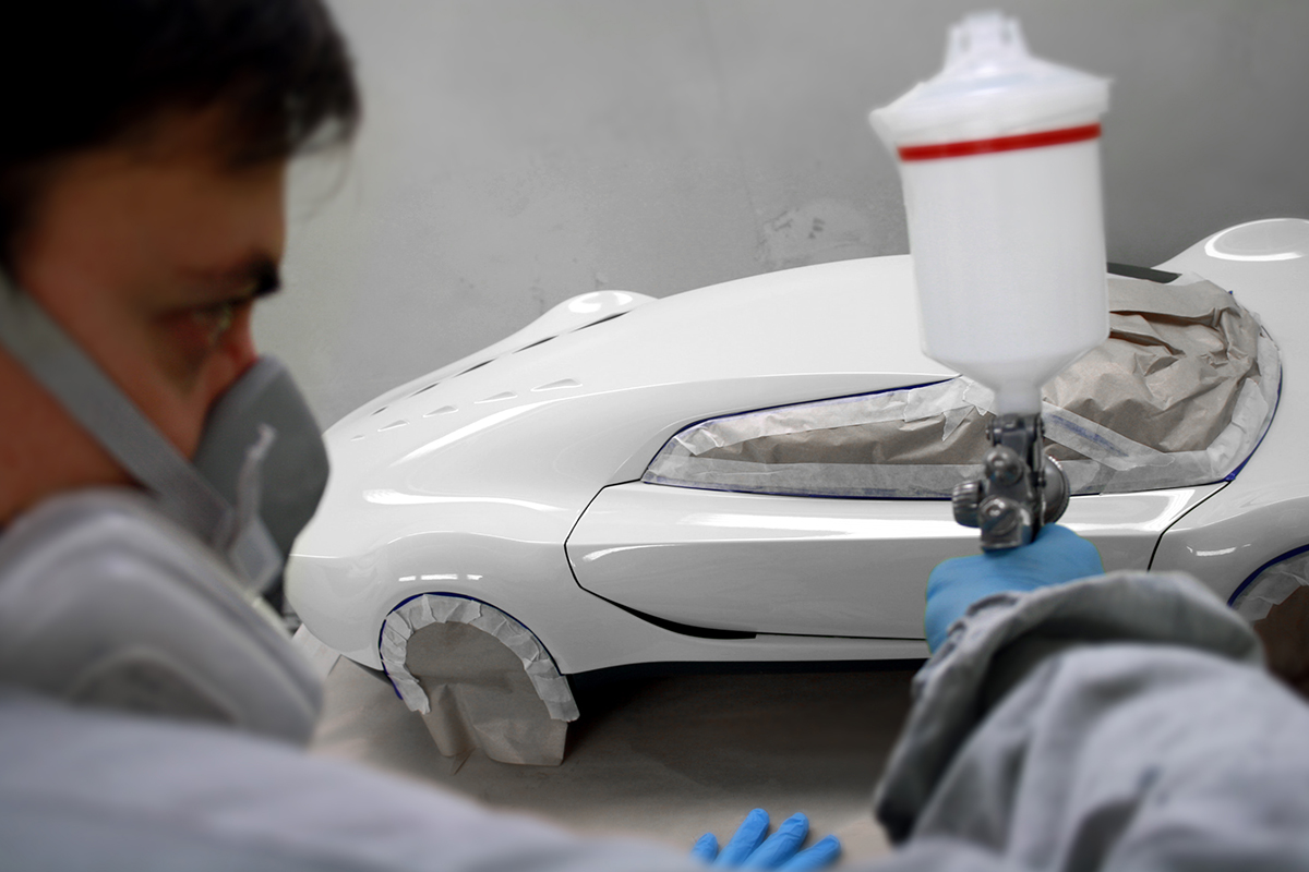 Painting prototype car Creative Wave
