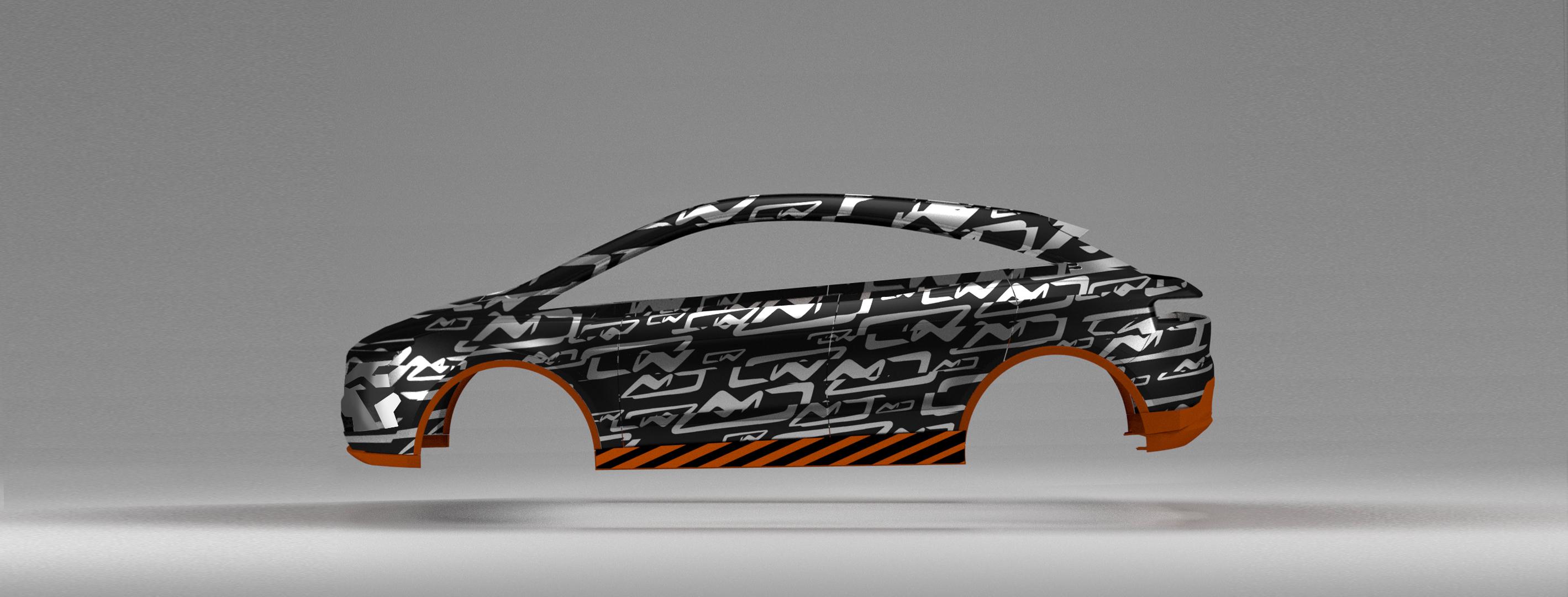 Prototype construction car Creative Wave