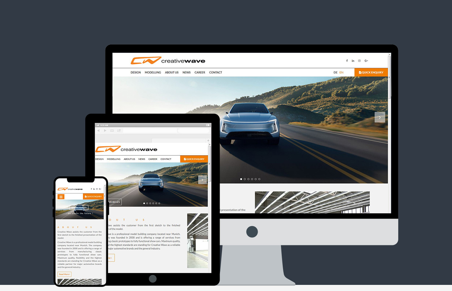 Responsive website Creative Wave
