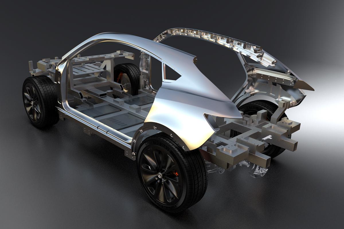 Prototype car design Creative Wave