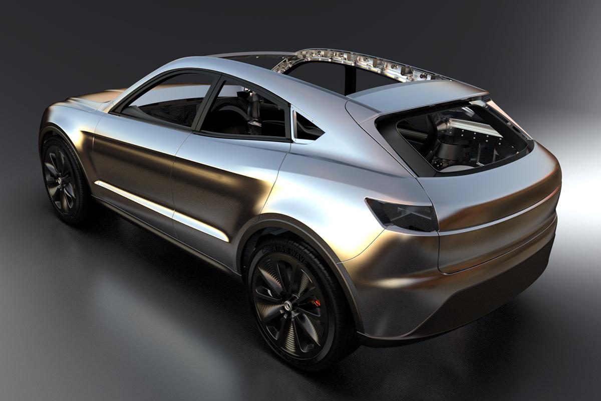 Prototype car Creative Wave