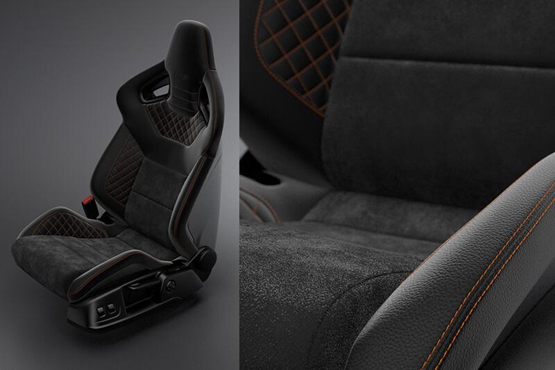 Car seat Visualisation Creative Wave