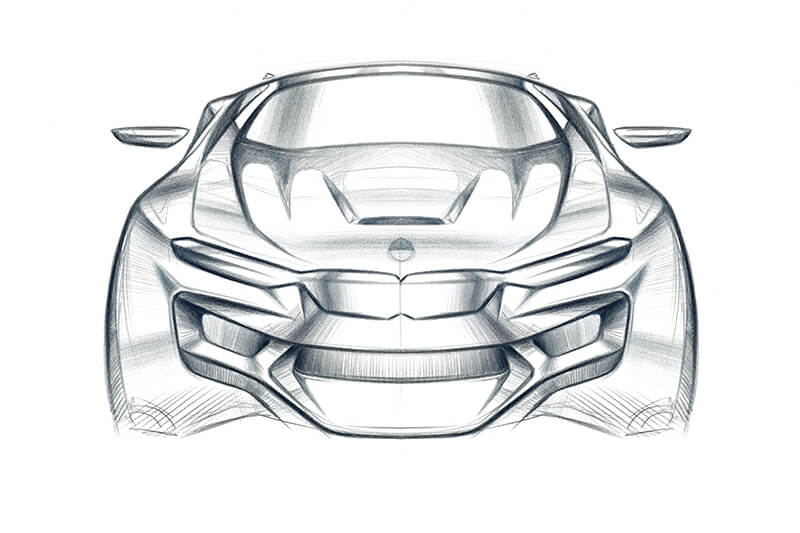 Carsketch Frontview Polychromes Design Creative Wave