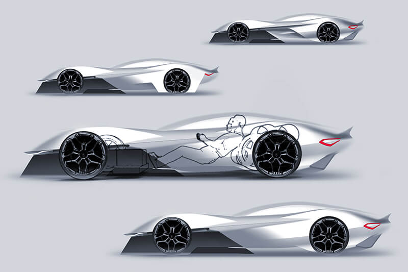 Sidesketches Sportscar Concept Creative Wave