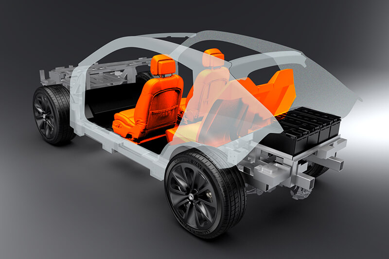 Prototype car open doors Creative Wave
