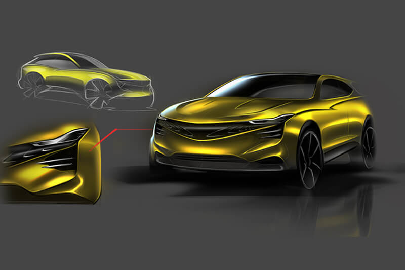 Carsketch SUV Creative Wave
